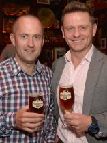 No Reproduction Fee Darragh Browne and Des McCann, pictured at the launch of the Franciscan Well Jameson-Aged Pale Ale. Pic John Sheehan Photography
