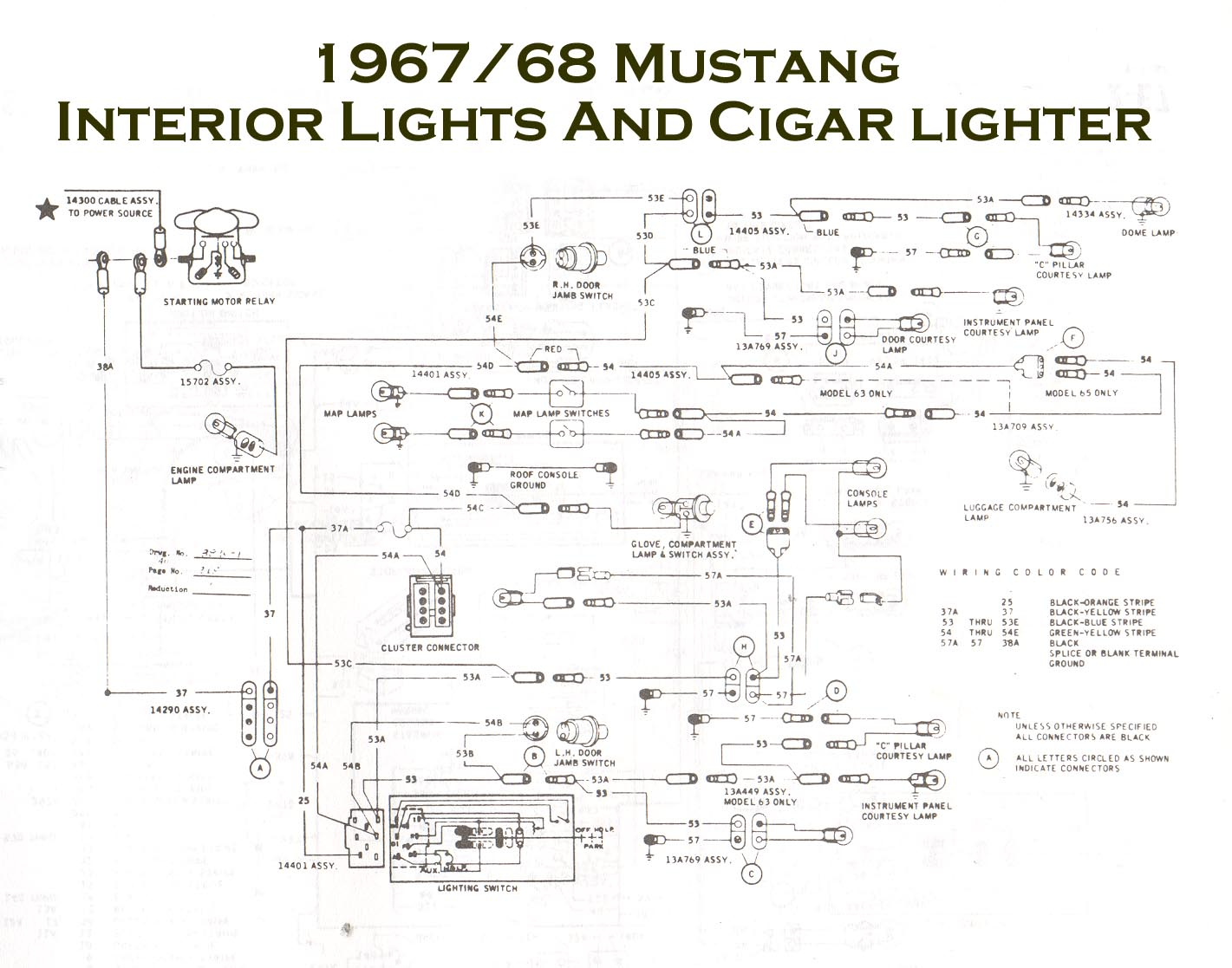 66 mustang ignition wiring diagram 3 phase drum switch vintage diagrams 1967 68 console jpg