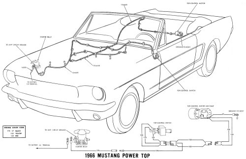 small resolution of  66 power convertible top details