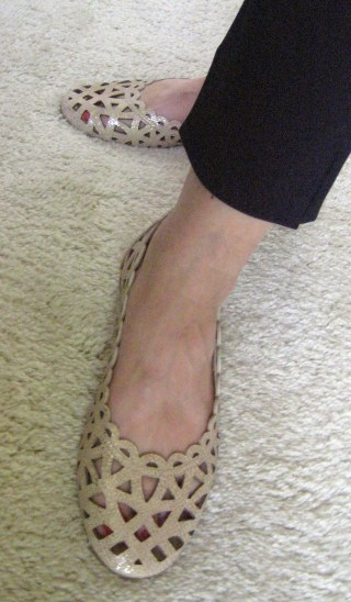 Mazzota Cut-Out Flats on Mid-Life Blogger