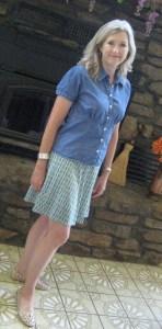 Kayla Printed Flare Skirt on Mid-Life Blogger