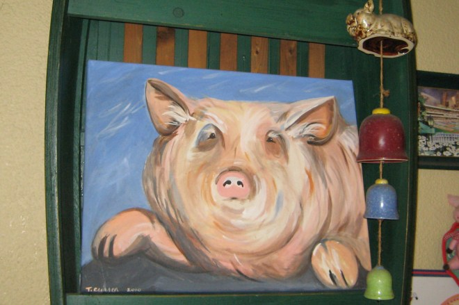 Pig Painting by Tanya Curren on Mid-Life Blogger