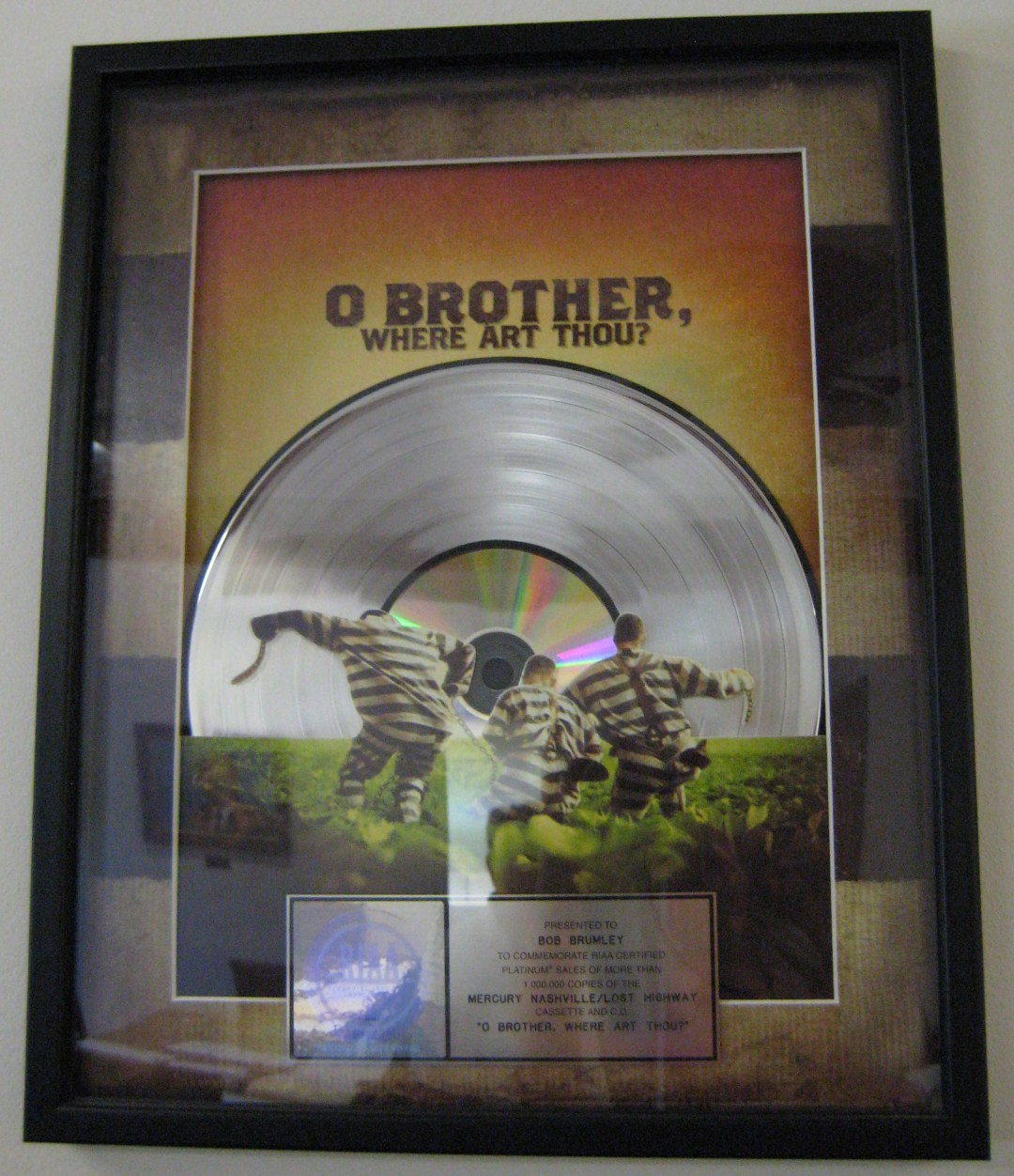 """O Brother Where Art Thou?"" Platinum Record by MId-Life Blogger"