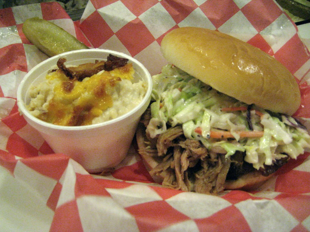 Memphis-Style Pulled Pork Sandwich and Baked Potato Salad
