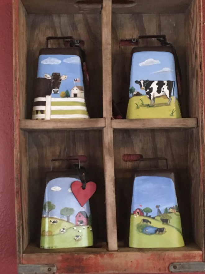 Cowbells Painted by Tanya Curren