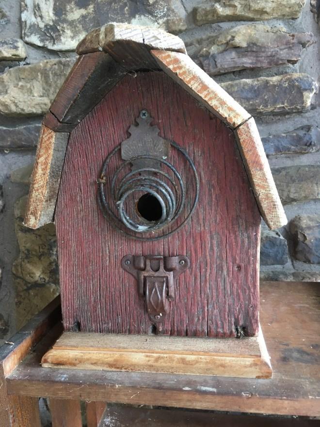 Barn-style Birdhouse Made from Joplin Tornado Rubble