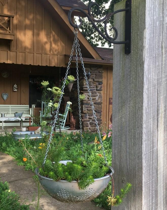 Hanging Collander Planter