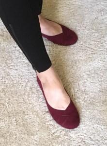 Burgundy Petite Ballet Flats by BC Footwear
