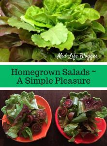 Homegrown Salads ~ A Simple Pleasure