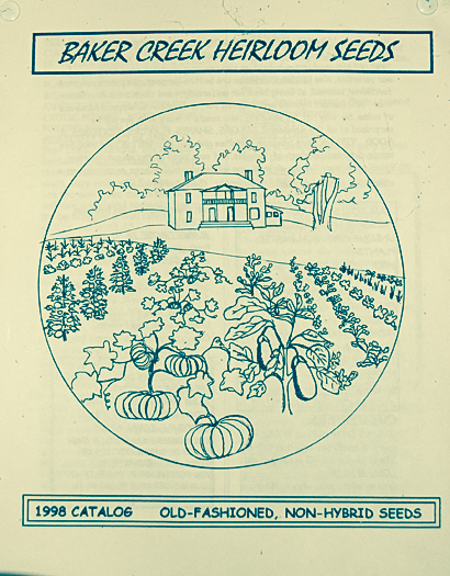 Very first Baker Creek Heirloom Seeds catalog, 1998.