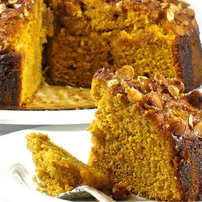 Skinny Holiday Harvest Pumpkin Crunch Cake