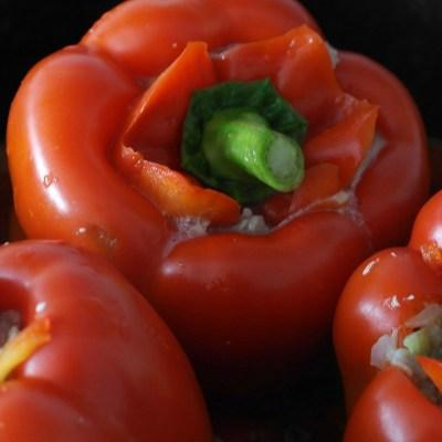 Cheeseburger Stuffed Peppers Recipe