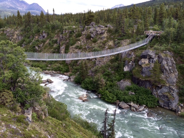 Alaskan Tour: Yukon Suspension bridge