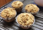 Apple Muffins with Apple Cider Glaze