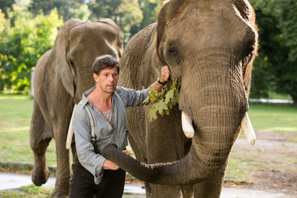 elephants in The Zookeeper's Wife movie