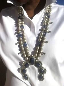 Chico's pearl squash blossom necklace