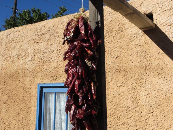 Santa Fe drying chiles