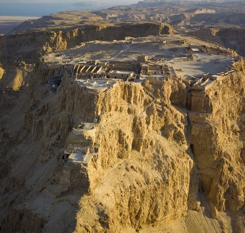 A visit to Israel, Herod's palace at Masada, Israel aerial view