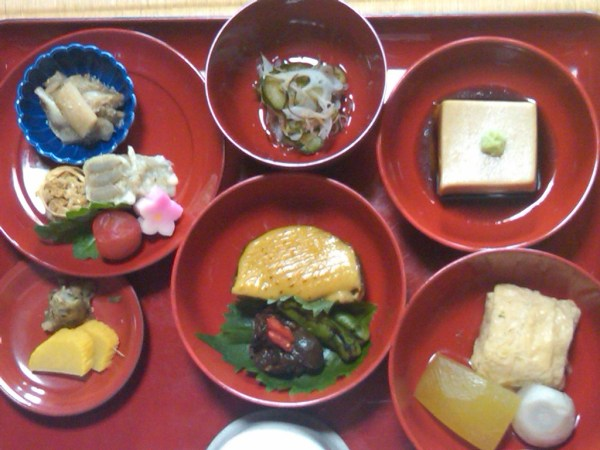 Food in Japan: vegetarian buddhist lunch