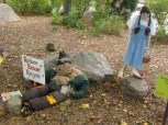 """October 13th: The Indianapolis Zoo celebrated """"ZooBoo"""" for Halloween with a series of employee-designed dioramas. This example attempted to salute Halloween, Oz, and conservation all at once, with mixed results."""