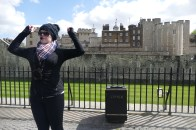 Our guide Margaret at the Tower of London