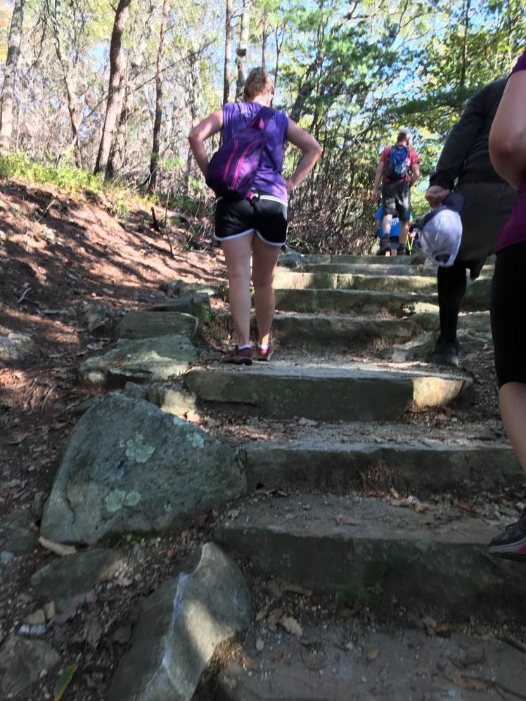 Killer climb, to The Hanging Rock