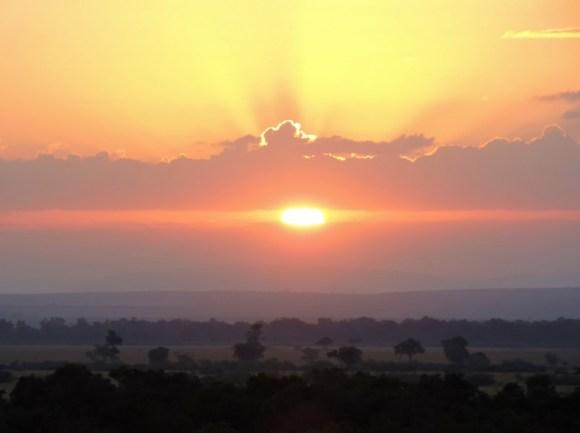 Sunrise over the Masai Mara – as seen from our hot-air balloon!