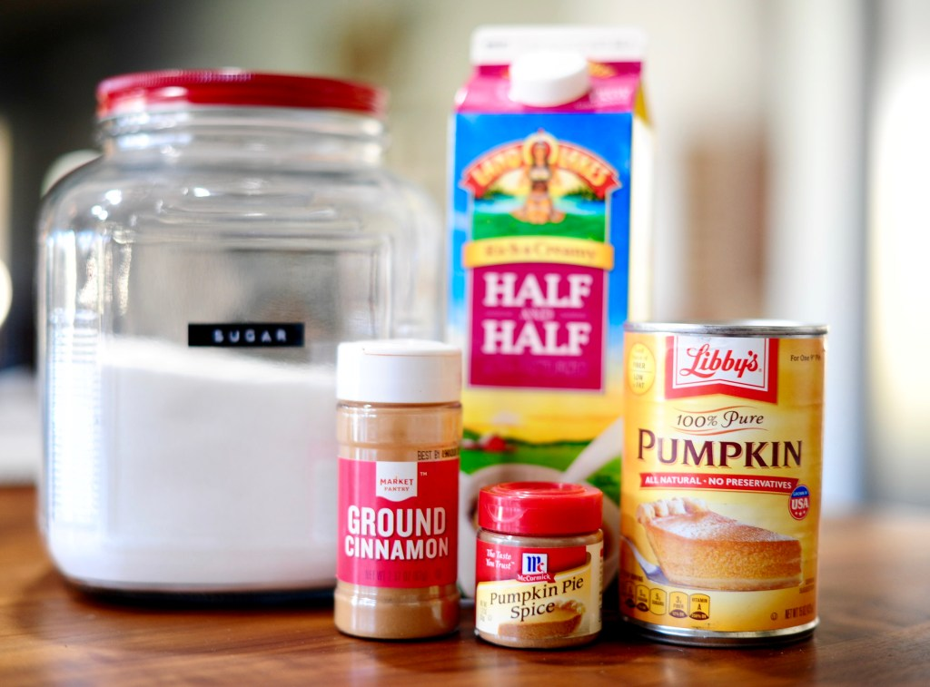 Simple pumpkin spice coffee creamer