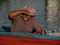 Sengkang - Locals who live in the floating villages, Lake Tempe