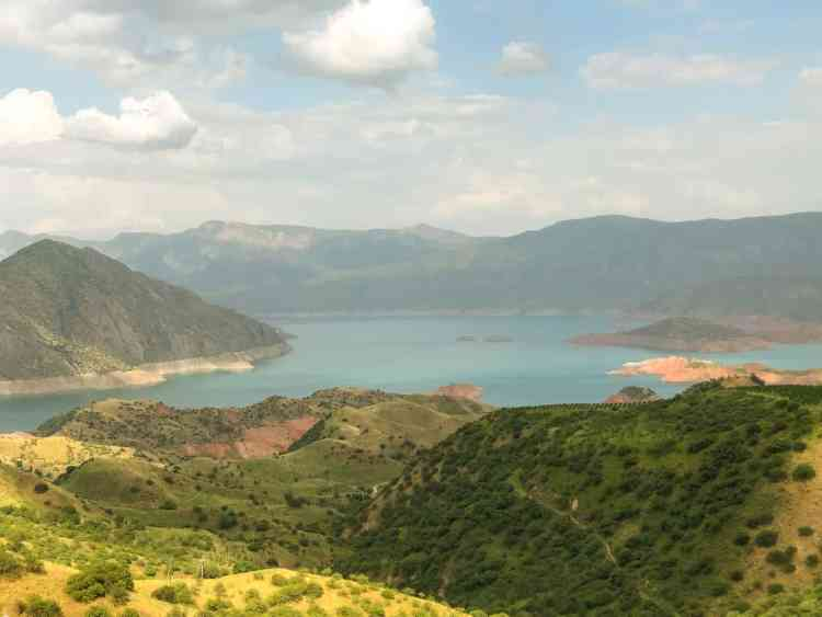 Nurek dam in Tajikistan is the second largest man made dam in the world
