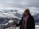 at Gornergrat plateau above Zermatt