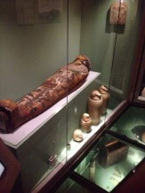 Part of Egyptian display in Brighton Museum, England
