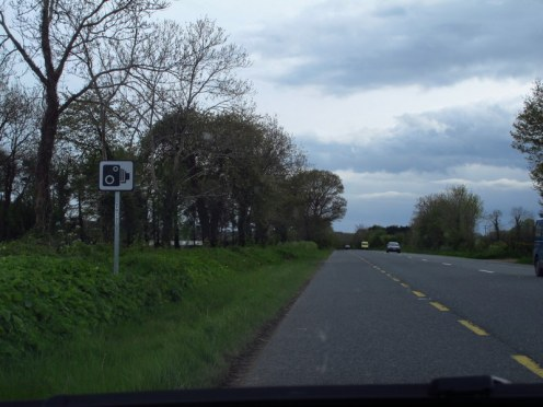Thought these signs were for a photo op - turns out they're speed camera signs, ooops!!