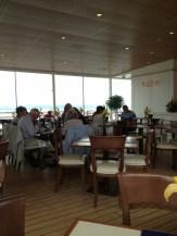 Cafe on board the Britannia
