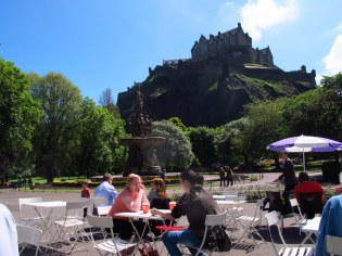 What a view, coffee in the park, Edinburgh