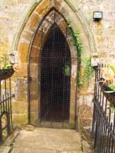 Tiny, tiny doorway