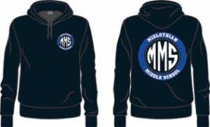 Midlothian Middle Blue hoodie