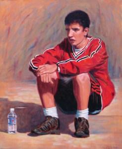 Athlete sitting down