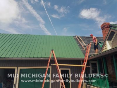 MId Michigan Family Builders Meatal Standing Seem Roof Project 06 23 2018 03