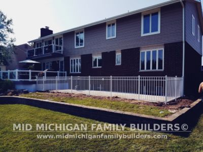 Mid Michigan Family Builders Aluminium Fence Project 07 13 2018 02