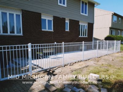 Mid Michigan Family Builders Aluminium Fence Project 07 13 2018 03