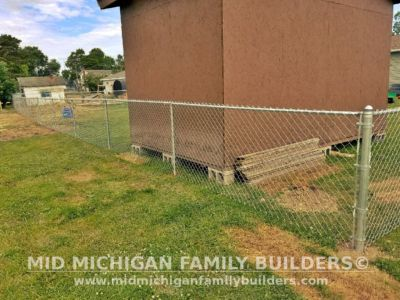 Mid Michigan Family Builders Chain Link Fence Project 07 2020 01 02