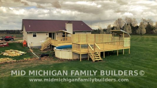 Mid Michigan Family Builders Deck Project Pool 05 11 2018 03