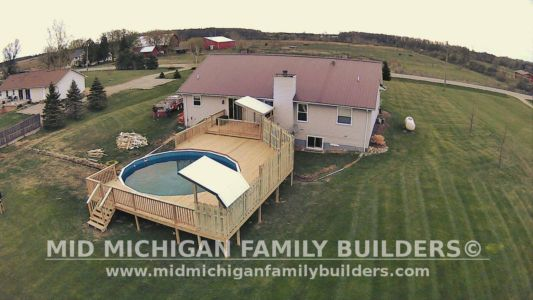 Mid Michigan Family Builders Deck Project Pool 05 11 2018 05