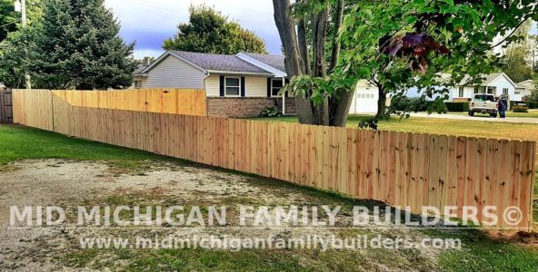 Mid Michigan Family Builders New Fence Project 09 2021 01 03