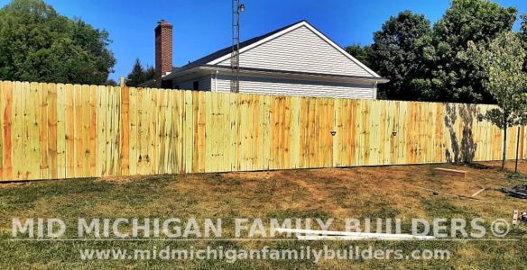 Mid Michigan Family Builders New Fence Project 09 2021 02 02