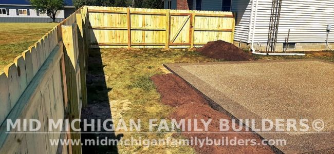 Mid Michigan Family Builders New Fence Project 09 2021 02 03