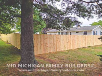 Mid Michigan Family Builders New Fence Project 09 2021 03 05