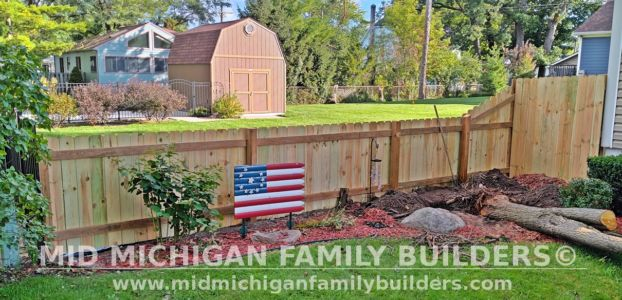Mid Michigan Family Builders New Fence Project 09 2021 04 04