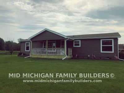 Mid Michigan Family Builders Siding Front Porch Roof Garage Project 06 2019 01 06